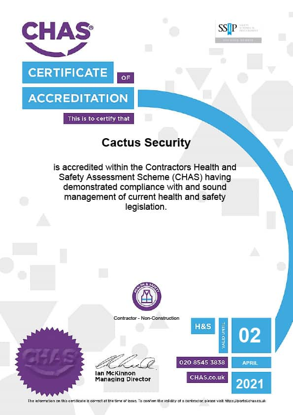 CHAS Certificate 2020